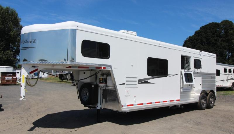 2020 TRAILS WEST SIERRA LQ 10X15 - 2 HORSE - FOLD UP REAR TACK - MANGERS - CONVENIENCE PACKAGE - PASS THRU DOOR - POWER AWNING