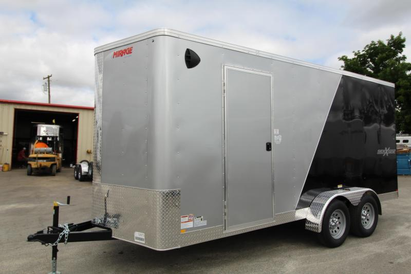 2020 Mirage Xpres 7x16 Enclosed Cargo Trailer - Side By Side Package - Two Tone Exterior - RV Mandoor