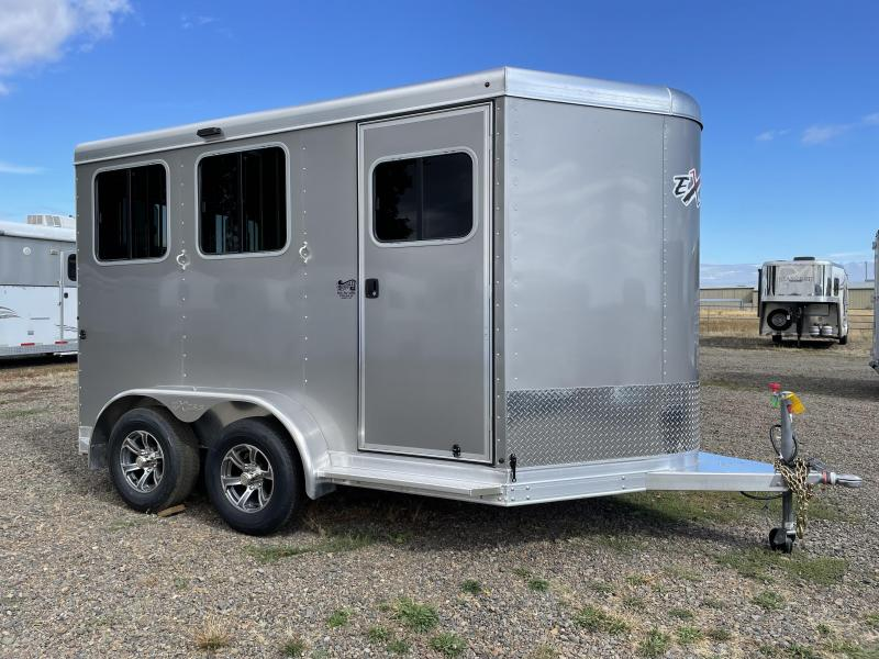 2022 Exiss Express SS 2 Horse  Bumper Pull - Easy Care Flooring - Drop Down Windows & Bars -