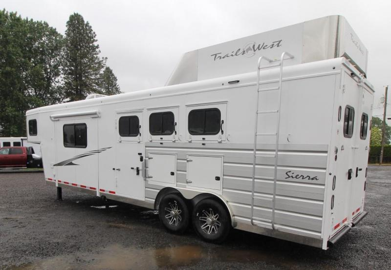 2021 Trails West Sierra 11X15 LQ 3 Horse Trailer - Hay Rack - Mangers - Slide Out