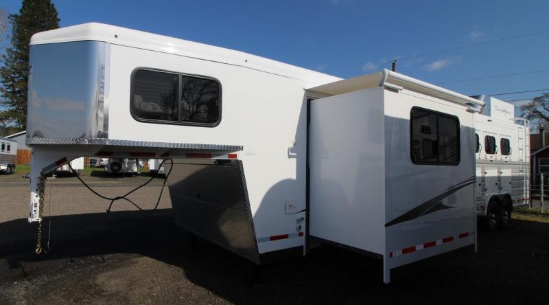 2021 Trails West SIERRA LQ 4 HORSE TRAILER 13x13 SLIDE OUT - SIDE TACK