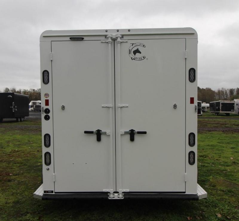 "2021 Trails West CLASSIC 2 HORSE TRAILER  7'6"" TALL-LINED AND INSULATED ROOF"