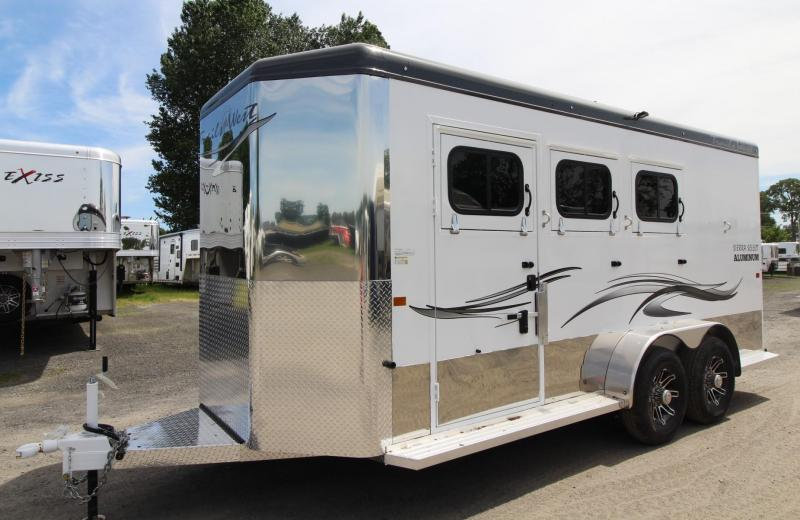 "2020 Trails West Sierra Select 7' 6"" Tall 3 Horse Trailer - Insulated Horse Area and Tack Room - Escape Door"