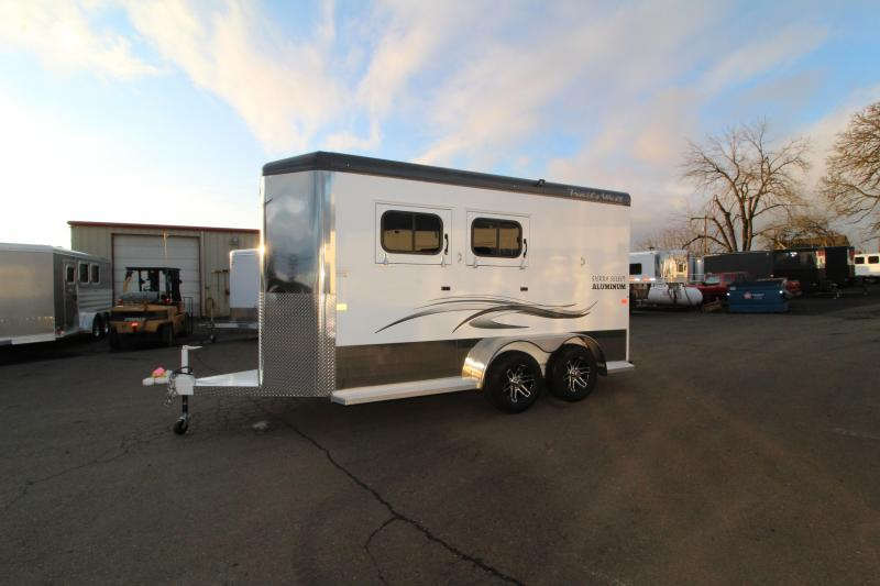 "2020 Trails West Sierra Select 2 Horse Trailer - Drop Down Feed Doors - Dome Lights -  Slam Latch Dividers 7'6"" Tall"