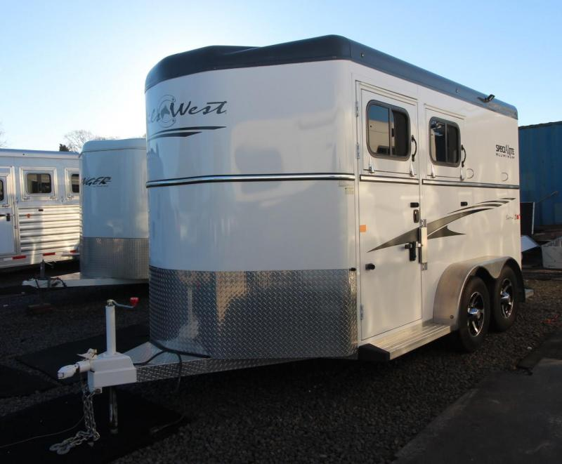 "2016 Trails West 2 HORSE TRAILER SIERRA 7'6"" TALL - ESCAPE DOOR"