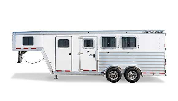 2021 Featherlite 3 Horse GN Easy Care Floor Horse