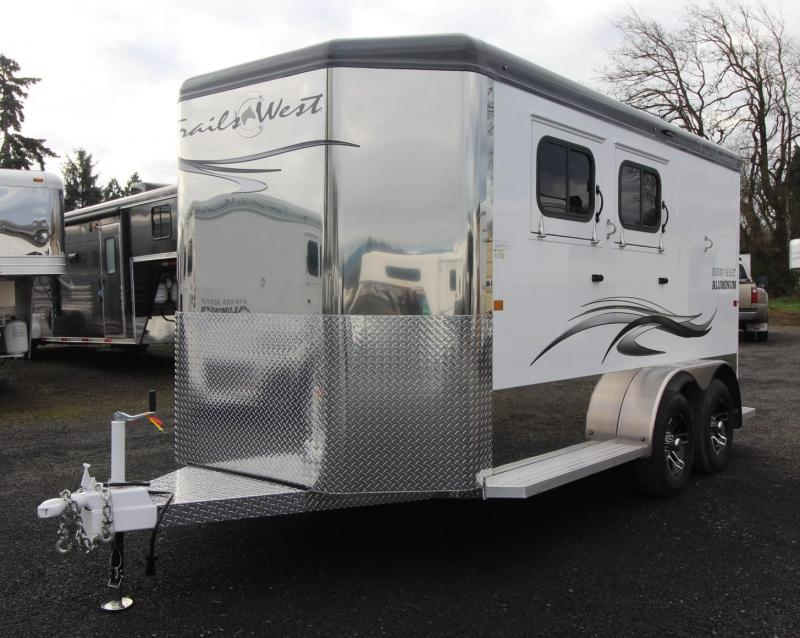 2021 Trails West SIERRA SELECT II 2 HORSE TRAILER - RUBBER MATS ILO CARPET