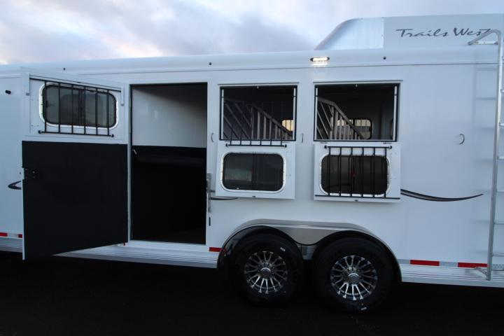 2021 Trails West 10' SW 3H-FULL ANGLE MID TACK-Slide Out Horse Trailer
