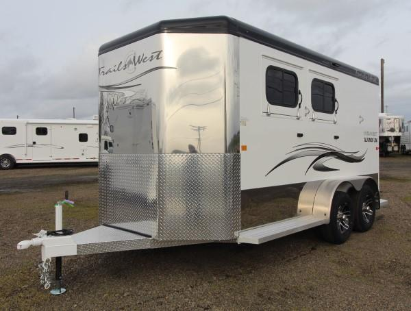 2021 Trails West Sierra Select 2 Horse BP Trailer-Lined & Insulated Tack Room &  Horse Area- Swing Out Saddle Rack-25 gal. Water Tank