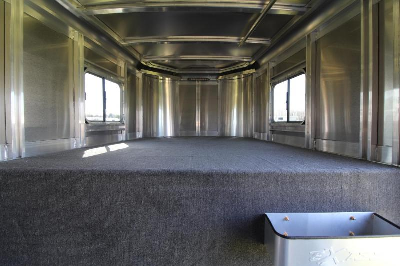 "2021 EXISS 7200 ST HORSE TRAILER - EASY CARE FLOORING- 22"" LED STRIP"