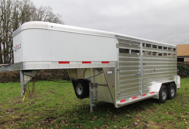 "2021 Exiss Trailers STOCK 7016 -16' GN - 7'2"" TALL - CENTER GATE Livestock Trailer"