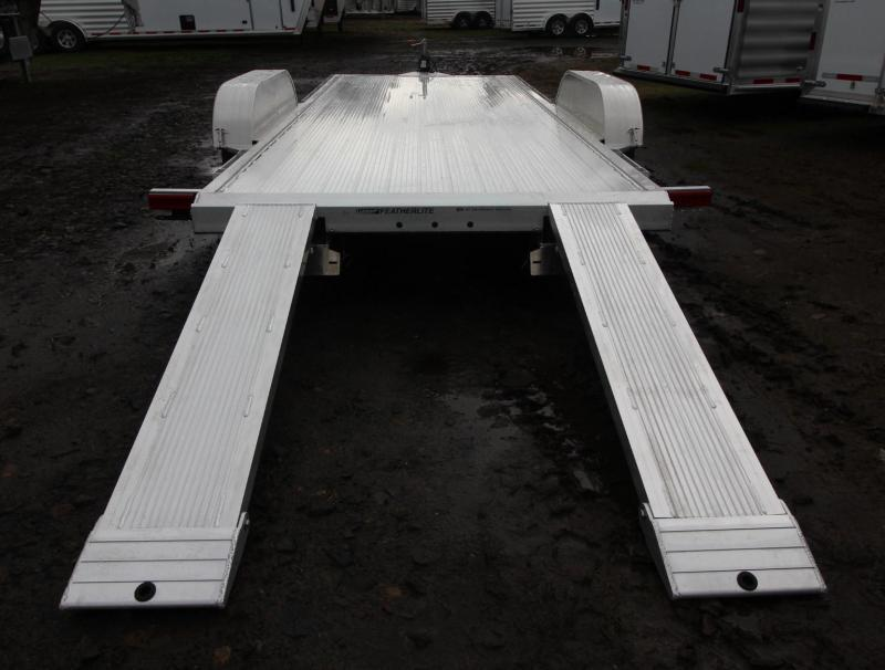 2020 Featherlite 3182 - 18ft Aluminum Flat Bed Car Trailer reduced $395