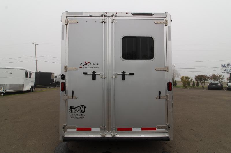 2020 Exiss Model 7210 2 Horse Trailer 10' Short Wall LQ All Aluminum Trailer. Dinette - Power Awning - Insulated Horse Area plus Easy Care Flooring!