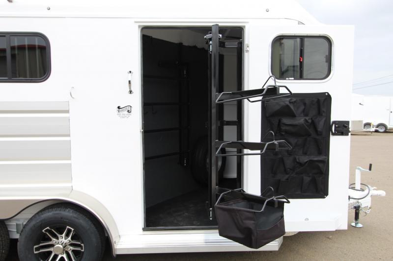 2020 Trails West Sierra 2 Horse Trailer-Lined And Insulated Horse Area-Swing Out Saddle Rack