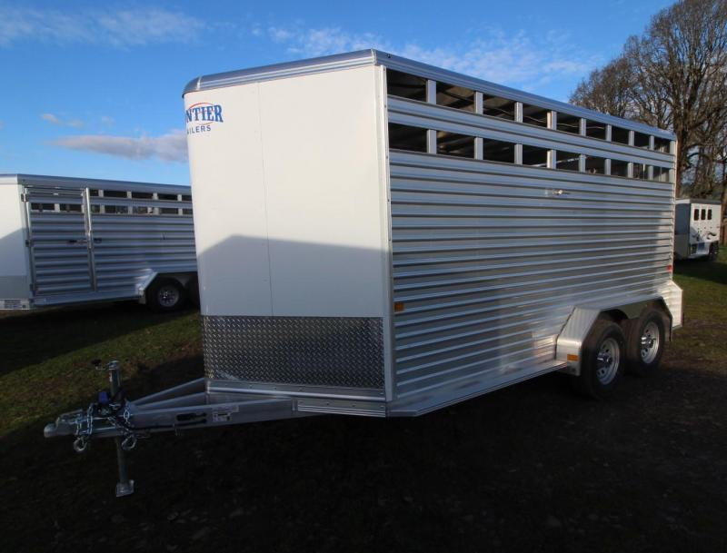 "2021 Frontier LITE 16'7"" STOCK - 7' TALL -UPGRADED TIRES Livestock Trailer"