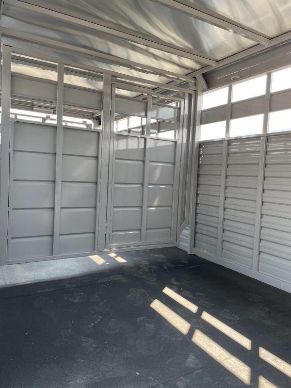 2022 Trails West 20' Hotshot Stock Trailer - Escape Door - Slider in Rear Door - Rubber Mats