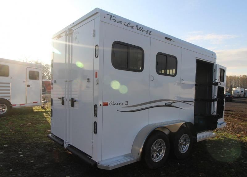 "2021 Trails West CLASSIC II 7'6"" TALL 2 HORSE TRAILER - ALUMINUM SKIN STEEL FRAME - SWING OUT SADDLE RACK"