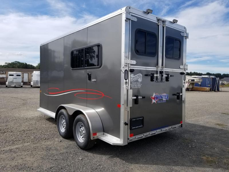 2022 Frontier Fast Track Warmblood 2 Horse Trailer - Straight Load - Side ramp and rear ramp