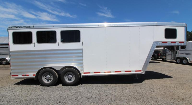"2019 Featherlite 7541 Horse Trailer 7' Wide 7' Tall 56"" Dressing Room - All Aluminum PRICE REDUCED $1590"