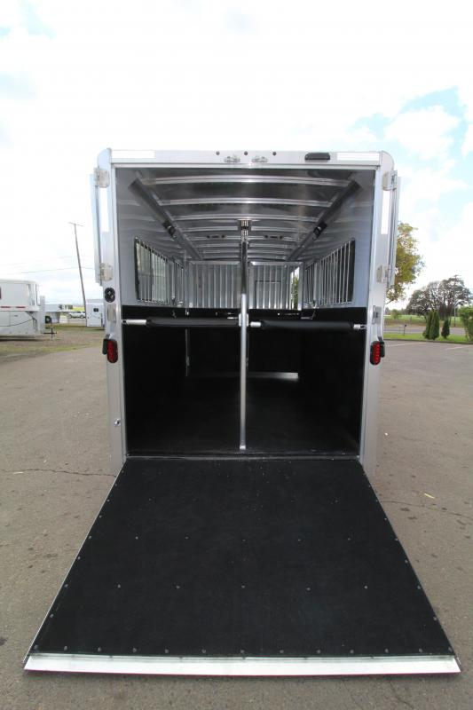2021  Exiss 2 Plus 1 Horse Trailer - Warmblood Size-Side Ramp - Rear Ramp - Straight Load w/ Box Stall In Front