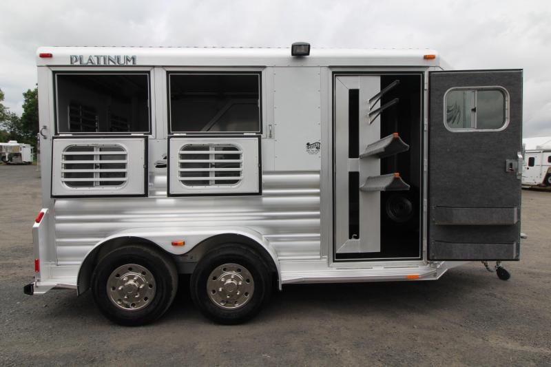 2020 Platinum Coach 2 Horse Aluminum Trailer - Drop down windows both sides - Swing out saddle rack - Easy Care Flooring