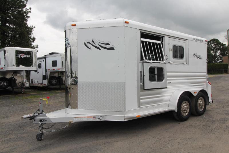 2020 Platinum Coach 2 Horse Aluminum Trailer - Drop down windows both sides - Swing out saddle rack - Easy Care Flooring