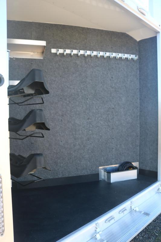 2022 Merhow Next Generation 8313 Side Load - Jack Knife Sofa - Pull Out Ladder - Slide with Dinette - Full Rear Tack - Hayrack - Escape Door - Drop Down Windows & Bars - Mangers - Enclosed Nose - Easy Care Floor