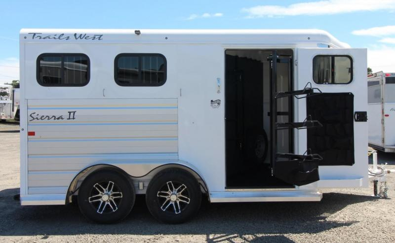 2020 Trails West Sierra II 1ft added to tack room 2 Horse Trailer - Aluminum Skin Steel Frame