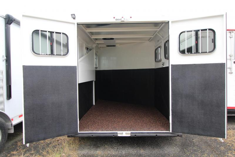 2020 Trails West Adventure MX II 2 Horse Trailer - Aluminum Skin - Conv. Pkg - Windows in Rear-Hoof grip added to floor