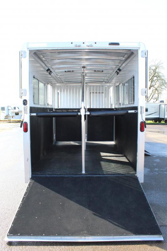 2020 Exiss 2 Plus 1 Horse Trailer - Warmblood Size-Side Ramp - Rear Ramp - Straight Load w/ Box Stall In Front