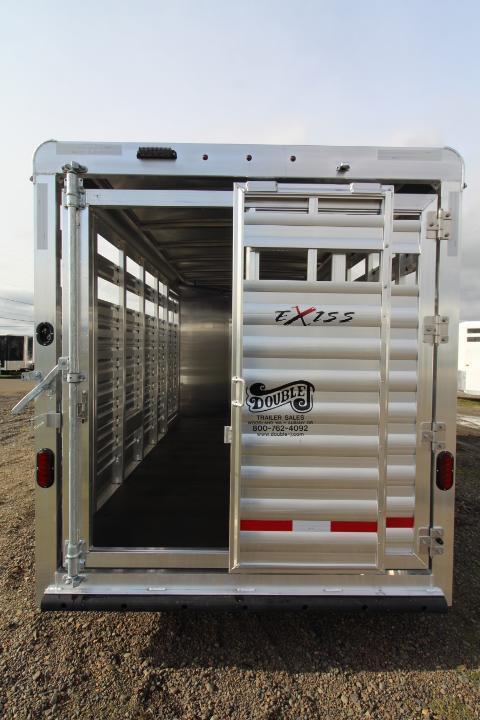 2021 Exiss 13' Stock Trailer-6' Wide-All Aluminum-Slider in Gate