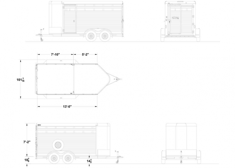 2021 Exiss 13' Stock Trailer-6' Wide-All Aluminum-Slider in Gate