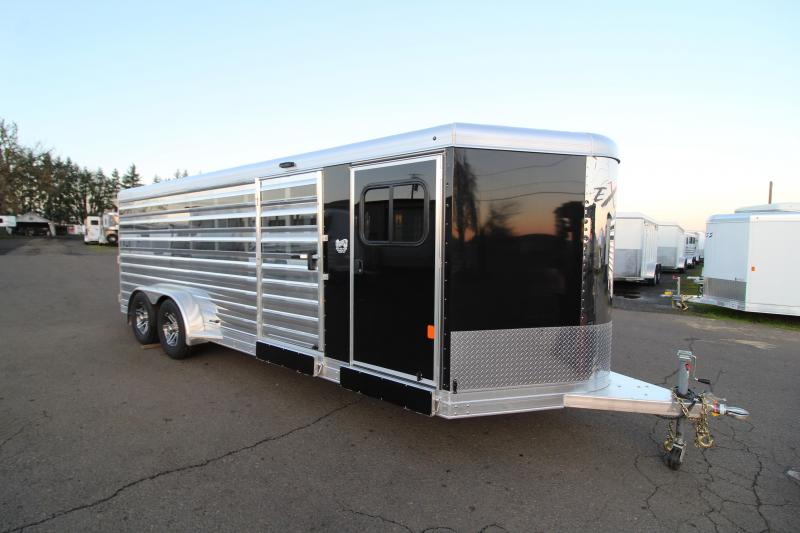 2020 Exiss Exhibitor 720A Livestock Trailer - Removable & Convertible Pen System - Air Gaps w/ Plexiglass - Tack Room - Rear Ramp