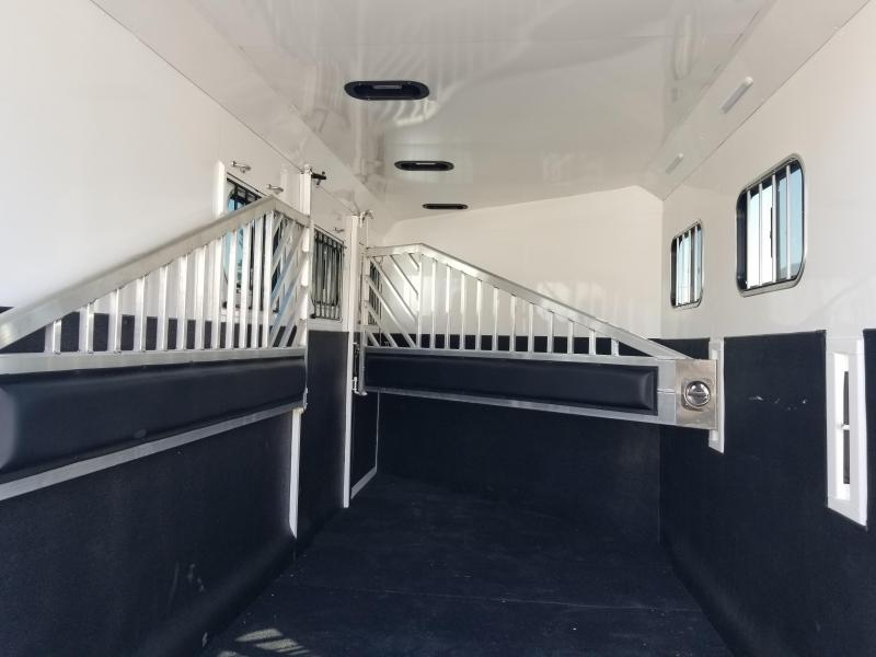 2022 Trails West Sierra Warmblood 3 Horse Trailer Lined and Insulated Horse Area