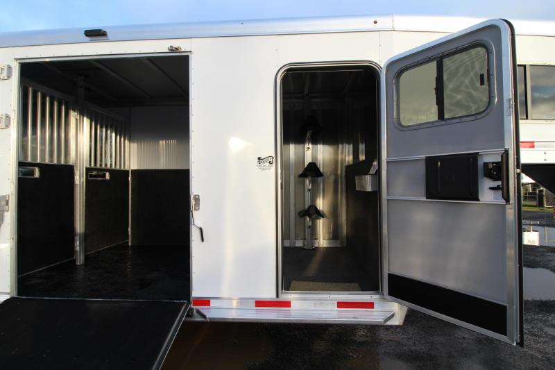 2020 Exiss 7200 SR 2+1 Straight Load w/ Box Stall &ramp; Side Ramp Warmblood Horse Trailer Reduced