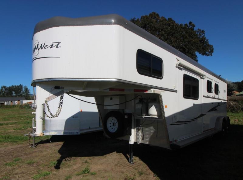 2016 Trails West SIERRA 2 HORSE TRAILER - SLIDE OUT- RAMP Horse Trailer