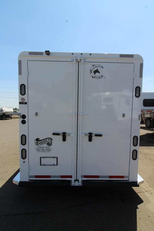 "2020 Trails West Classic 3 Horse Gooseneck Trailer - Added Height 7'6"" Tall - First Stall Escape Door - Swing Out Saddle Rack - Steel Frame Aluminum Skin"