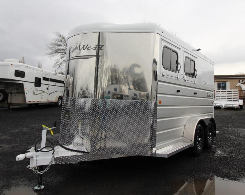 2020 Trails West Sierra II 2 Horse Trailer - Aluminum Skin Steel Frame - Convenience Package