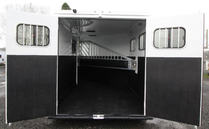 2020 Trails West Sierra II 2 Horse Trailer - Aluminum Skin Steel Frame - Convenience Package