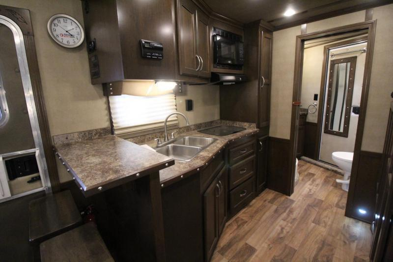 2016 Featherlite 9821 - 15ft SW Living Quarters 3 Horse Trailer - Generator Ready - Slide Out - Hayrack PRICE REDUCED