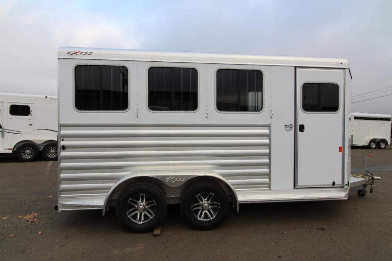 2020 Exiss Express XT Horse Trailer - Drop Down Feed Windows - All Aluminum Construction - Insulated Walls in Horse Area
