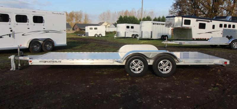 2021 Featherlite 3182 - 20ft FLATBED CAR TRAILER ALL ALUMINUM WITH RAMPS