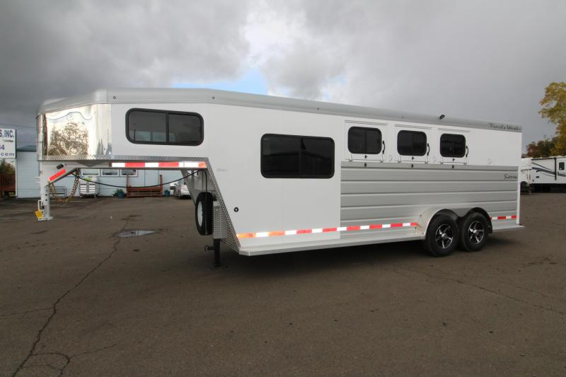 Used 2019 Trails West Sierra 3 Horse  - Comfort package 5x5 Silver Roof - Steel Frame Aluminum Skin - Lined and Insulated Horse Area Ceiling and Walls