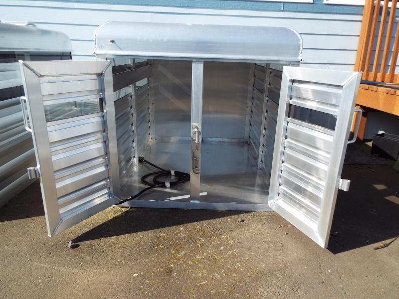 2020 Exiss Stock Box Truck Topper - All Aluminum - Interior Lights - Removable Divider
