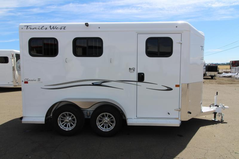 2020 Trails West Classic 2 Horse Trailer - Convenience Package -  Drop Down Feed Windows - Slant Load  - PRICE REDUCED