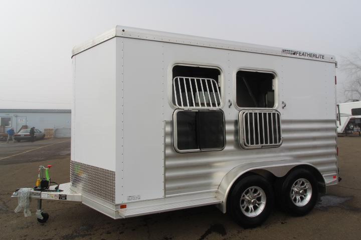 2021 Featherlite 7441 2 Horse Trailer-Rear Tack-Padded Dividers