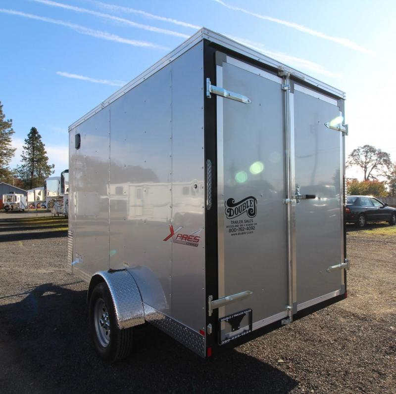 2020 Mirage Xpres 6x10 SA Enclosed Cargo Trailer - Diamond Ice Exterior - Xtra Package