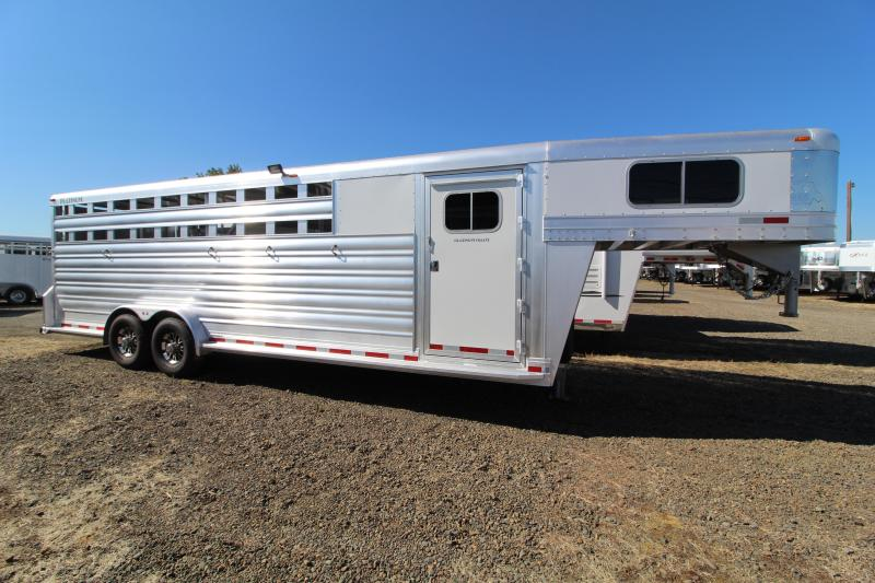 2020 Platinum 5 Horse Sport Combo Trailer-Full Height Stud Divider-Escape Door-Easy Care Floor