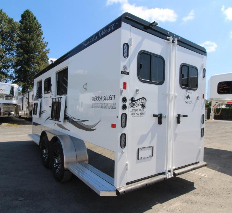2020 Trails West Sierra Select 3 Horse Trailer - Seamless Aluminum Vacuum Bonded Walls and Ceiling