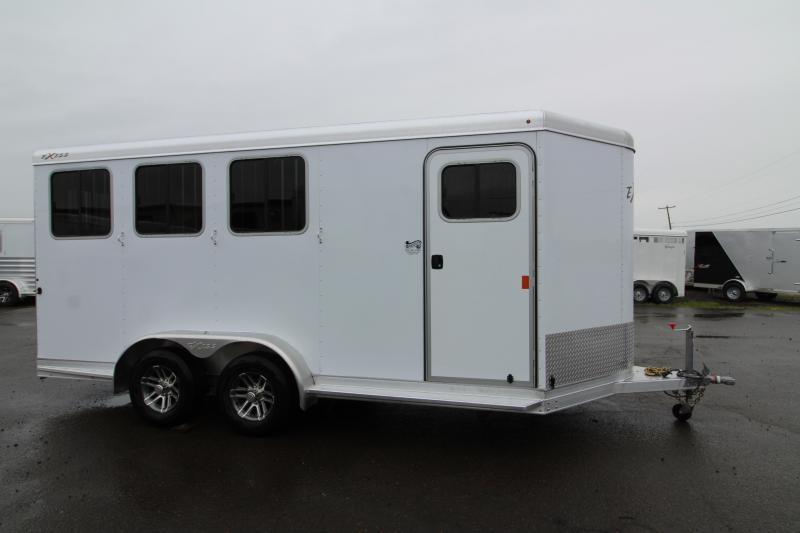 NEW 2019 Exiss 730 - 3 Horse Bumper Pull - All Aluminum - Folding Back Tack - Easy Care Flooring - 2' Short Wall Dressing Room PRICE REDUCED
